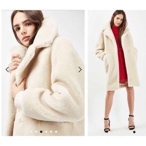 Topshop Polar Bear Faux Fur Coat